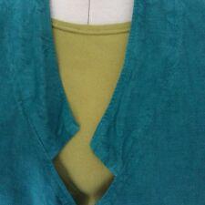 Oska Jade Green 100% Linen Pocket Front A-Line Short Jacket Size Regular 3