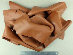 1 Kilo Ritagli Di pelle di Vitello Nappa Marrone Oro Grana Naturale