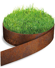 IRKA Rasenkantenband Rasenkante Corten Stahl 15, 20 oder 25 cm hoch 1mm stark