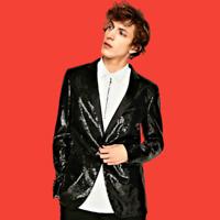 ZARA Single Breasted Black Blazer Sequins Tuxedo Evening Dinner Jacket 9621/301