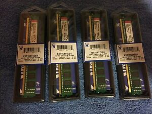 16GB 4X4GB DDR3 Kingston Desktop PC Memory  KVR16N11S8/4 1600MHZ PC3-12800