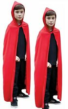 Red Hooded Cape Childrens World Book Day Fancy Dress Accessory Red Cape