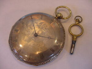 MAGNIFICENT 1830's 18k SOLID GOLD FRENCH POCKET WATCH SERVICED KEY WIND!