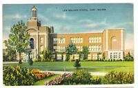 1947 Postmarked Postcard Lew Wallace School Gary Indiana IN
