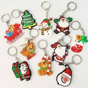 Santa Claus Father Christmas Tree Xmas Keyrings Stocking Filler Keychains Gift