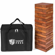 Stained Giant Toppling Timbers with Carrying Case - 60 Block Tower