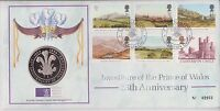 GB QEII  PNC 1994 INVESTITURE PRINCE OF WALES COVER AND COIN/MEDAL ROYAL MINT