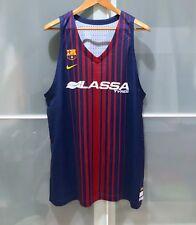Nike Fcb Barcelona Lassa Basketball Team Issue Vapor Jersey Fiba Euroleague 48
