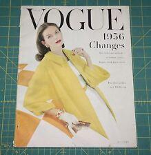 January Vogue 1956 Rare Vintage Vanity Fair Fashion Design Collection Magazine