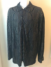 Michael Irvin Collection Mens Long Sleeve Button Down Shirt Size Large