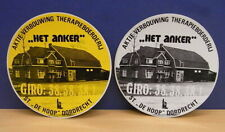 2x Sticker - Decal Het Anker / Therapie / Dordrecht with org.back 80's (2008)