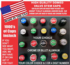 Custom 4 digit Number Saleen Ford Mustang Cobra Shelby Coyote GT Valve Stem Caps