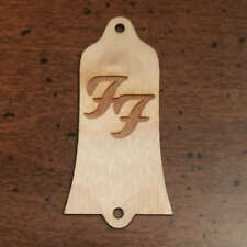Guitar Parts - WOOD BURNED TRUSS ROD COVER Fit GIBSON - Dave Grohl FOO FIGHTERS