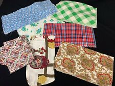 Lot Of 7 Vintage Feed Or Flour Sacks (Only 1 Is Still A Sack) Great Fabric