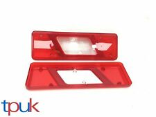 PAIR FORD TRANSIT MK8 2014 TIPPER CHASSIS REAR TAIL LIGHT LAMP LENSES LEFT RIGHT