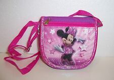 """Disney Minnie Mouse """"Mega Star"""" Deluxe Wallet Cross-Body Purse Clutch Tote New!"""