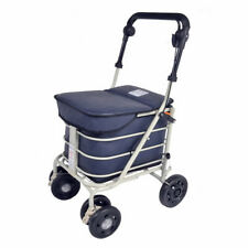 Shopping Trolley with Seat - Navy (Direct From Manufacturer)