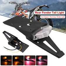 CLEAR Universal Integrated Motorcycle Rear Fender Tail Stop Turn Signal Light