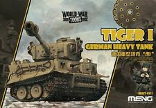 Meng #WWT001 World War Toons German Heavy Tank Tiger I Q Edition Plastic Kit