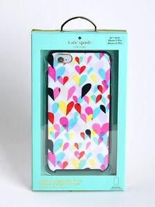 Kate Spade iPhone 6 Plus iPhone 6s Plus Hard Cover Case Confetti Rainbow Hearts