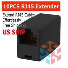 RJ45 Cat5e Ethernet LAN Network Splitter Cable Extender Adapter Connector RF