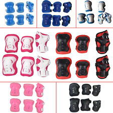 6Pcs Children Skateboard Roller Skating Knee Elbow Wrist Protective Pad Kit #ur