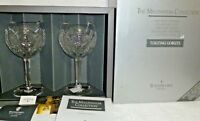 Waterford Crystal Pair of Millennium Happiness Toasting Goblets