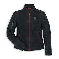 New Spidi Ducati Flow 2 Fabric Jacket Women's XL Black/Red #981027966