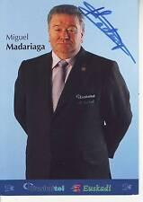 CYCLISME carte directeur MIGUEL MADARIAGA équipe EUSKALTEL EUSKADI  signée