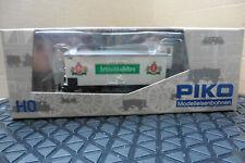 PIKO HO 1/87 COVERED GOODS WAGON & PARTS BOXED MODEL RAILWAY 54204