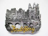 Heidelberg Magnet Schloss Brücke Poly Souvenir Germany 7 cm silber
