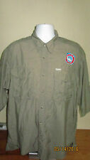 XL Columbia GRT Short Sleeve Button Down Front Embroidered Dive Utah Logo Shirt