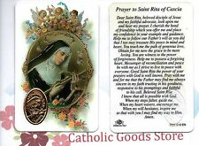 St. Rita - Prayer to Saint Rita of Cascia - (SF) Plastic stock Holy Card