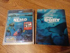 Finding Nemo 3D & Dory 3D (Blu-ray/Dvd, 2016) Lenticular Slipcover & Steelbook