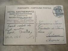 CARTOLINA 1922 S. COSTANTINO-FIE' ALLO SCILIAR, HOTEL SANTNERRSPITZ,TIMBRO SEIS