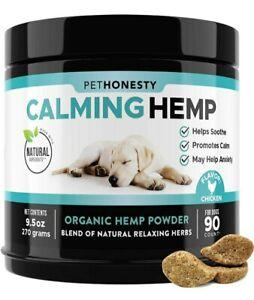 PetHonesty Hemp Calming Soft Chew Treats, Valerian Root, Anxiety & Stress Relief