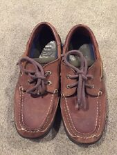 Sperry Brown Leather Boat Shoes Boys Size 2.5 Wide