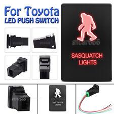Red LED Push Switch SASQUATCH LIGHT for Toyota Highlander Sequoia Tundra 4Runner
