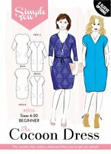 Simple Sew Beginners SEWING PATTERN #SR26 The Cocoon Dress 6-20
