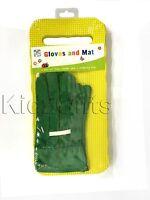 Kids Junior Gardening Gloves & EVA Foam Kneeler Kneeling Pad Garden Activity Set