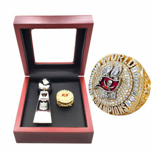 New 2021 officiel Tampa bay buccaneers championship ring with trophy +box set
