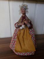 ANCIEN grand SANTON  terre cuite France 20cm Femme ail signé Sylvette AMY