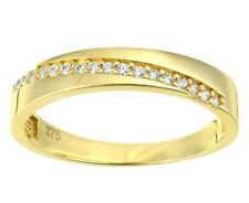 9ct yellow gold twist created diamond wedding band from our Bridal range size J