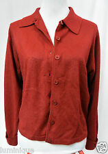 *SUSSAN** Red Cardigan Knit Wear S 8 10 Button Down Collar Winter Fall Top Layer
