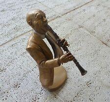 """Mark Hopkins- Limited Edition Bronze Sculpture- """"Jazz Clarinet"""""""