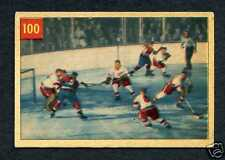 1954/55 Parkhurst #100 Sawchuk In Action  Vg/Ex+