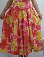 Womens Modal Baumwolle Rayon Below Knee Pleated Skirt Size S New
