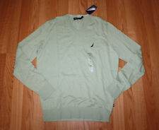 NWT Mens NAUTICA Light Green Patina V-Neck Sweater Size L Large $59