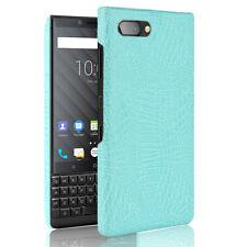 For Blackberry key2 KeyOne Q20 Q30 Priv Crocodile Skin PU Leather Hard Back Case