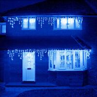 10~100FT 96~960 LED Fairy String Icicle Curtain Light Outdoor Xmas Decor Blue
